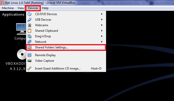 Correct way to install Virtualbox Guest Additions packages on Kali Linux and create shared folder - blackMORE Ops - 1