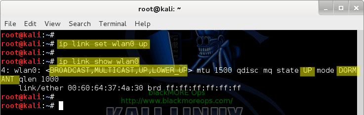 Connect to WiFi network in Linux from command line - Bring device up - blackMORE Ops-3