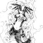 BMP sketch by DC comics artist Brett Booth