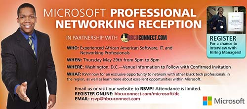 Microsoft HBCU Connect Networking Reception