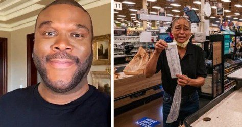 Tyler Perry pays grocery bills for seniors