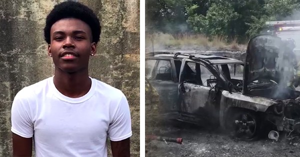 Justin Gavin, Black teen hero who saved family from burning car