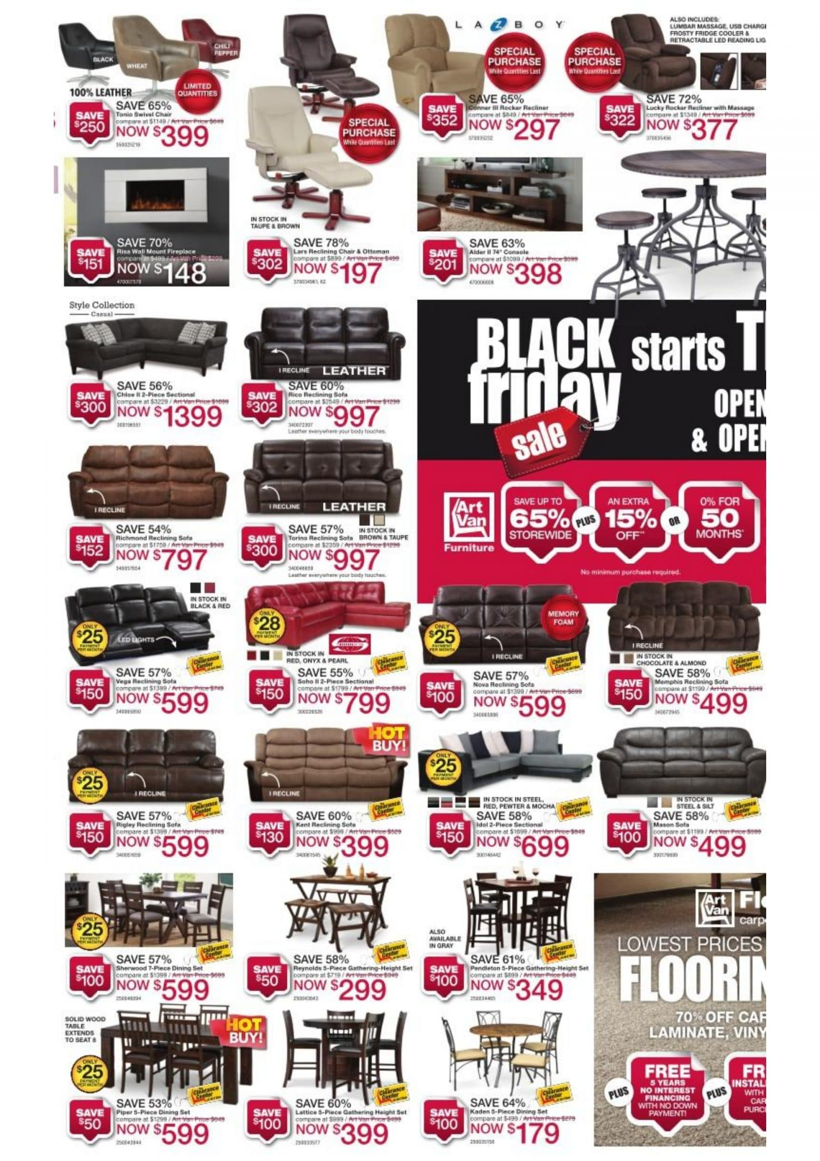Art Van Black Friday Ad 2016