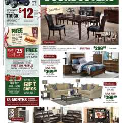 Sofa Black Friday 2017 White Leather In Living Room Rc Willey Ad 2016