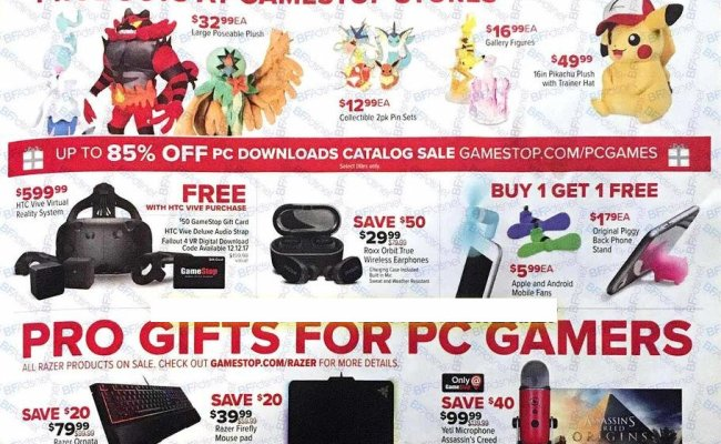 Gamestop Black Friday Ad 2017