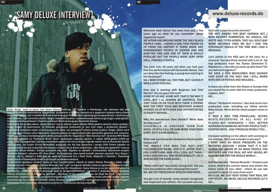 Samy Deluxe interview Bumsquad