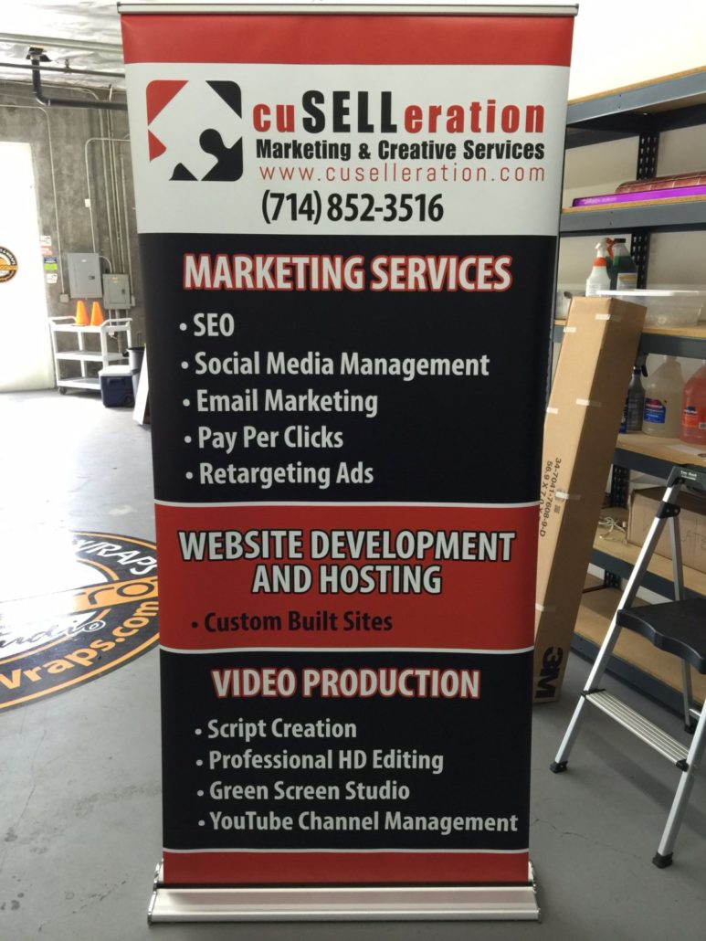 Trade Show Displays  Black Parrot Signs  Orange County