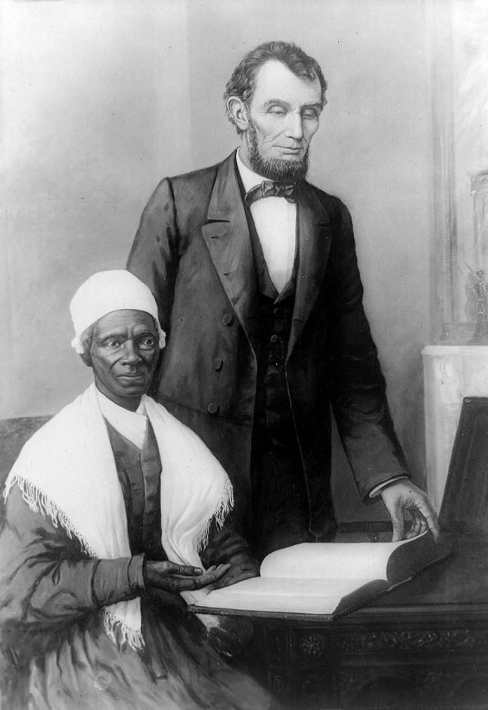 "1851) Sojourner Truth ""Ar'nt I a Woman?"""
