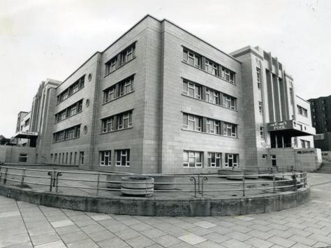 The recognisable art deco Derby Baths building