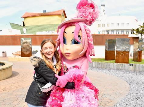 Coronation Street actress Harriet Bibby celebrates her birthday at Blackpool Pleasure Beach during the park's 125th celebration season Pictures: Dave Nelson