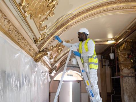 The company charged with the work has also worked at Buckingham Palace