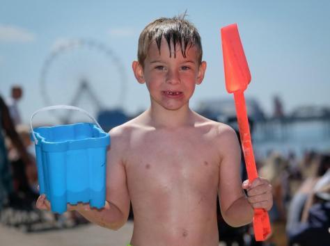 Harry Reynolds, 6, enjoying the beach