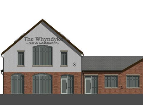 An artist's impression showing the proposed Whyndyke pub