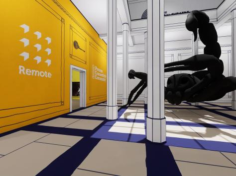 """One of the virtual """"rooms"""" showcasing graduating Blackpool and the Fylde College students' work. Pic: Aaron Tonks"""