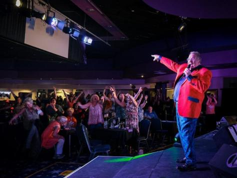 Joey Blower, 58, performed his last show before flying abroad for cancer treatment in Prague, at Viva Blackpool on Saturday, July 3, 2021 (Picture: Martin Bostock for The Gazette)