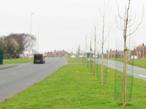 The dual carriageway is described as 'challenging' for cyclists.