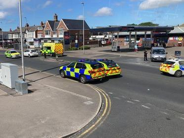 A woman was taken to hospital after being hit by a car in Whitegate Drive. (Photo by Edward Calvey)