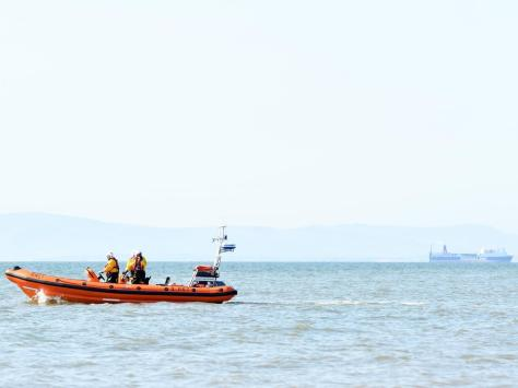 Sea rescue teams search the coast of Bispham and Cleveleys after reports of a missing person today. Pic: Dave Nelson