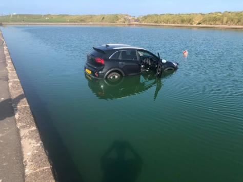 The car was found this morning in Fleetwood Boating Lake