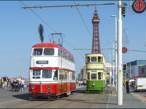 Two of Blackpool's fine heritage trams