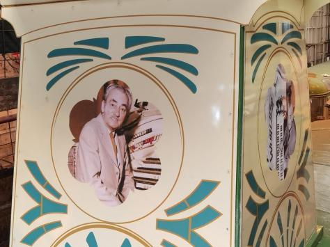 Tributes to Reginald Dixon on the tram