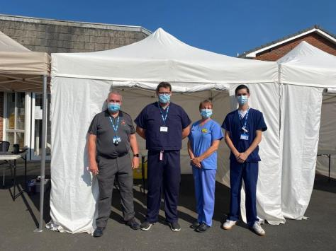 The vaccination van team