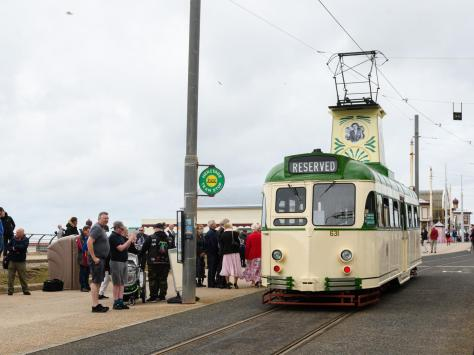 """Shane Grindey, marketing and commercial manager for Blackpool Transport said """"It is a very special, and fitting occasion, to rename a historic tram after somebody who has contributed so much to Blackpool's successful history."""""""