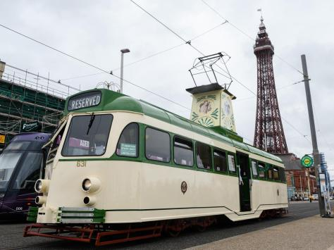 A classic Blackpool image - Tower, tram and Promenade