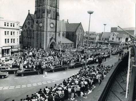 Funeral of Supt Gerry Richardson who was shot dead in Blackpool