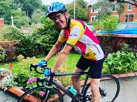 Keith Walsh cycled 274 miles in August to raise £2,000 for Brain Tumour Research after his daughter Zara was diagnosed with a tumour in February. Pic: Zara Taylor