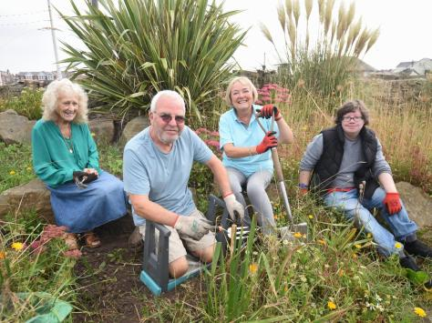 Volunteers from the Friends of Jubilee Gardens are desperate for new members to help with the gardens.  Pictured is June Lockett, George Williamson, Dana Gledhill and Ali. Photos: Dan Martino