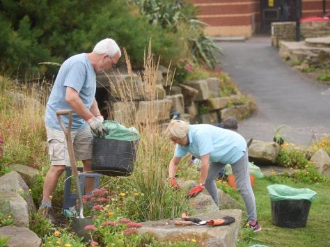 The Friends of Jubilee Gardens at work in the North Shore park