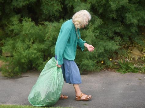 Volunteer June Locket is busy at Jubilee Gardens