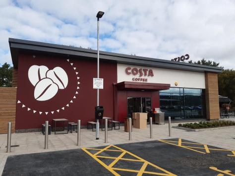 The new Costa at Squire's Gate retail park