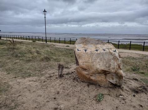The sculpture overlooks the Ribble estuary