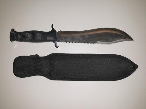 The knife removed from a youth in Blackpool by police last night