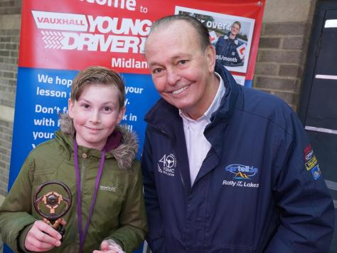 Myles Taylor, from St Annes, receives his trophy from motoring journalist and broadcaster Quentin Willson. Myles, 12, came third in the 10-13 age category in the Young Driver Challenge 2021. It was the second time Myles had qualified for the final, which finds the best young drivers from across Britain