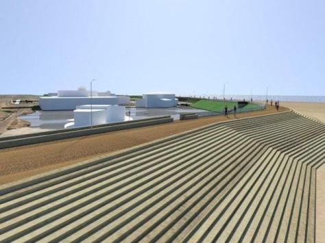Artist impression of the sea defence at St Annes