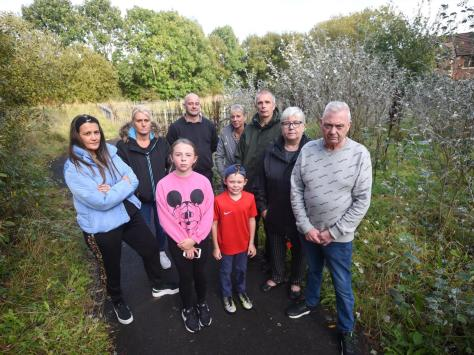 Residents at Harlech Grove are unhappy about the lack of maintenance of the green space around their homes