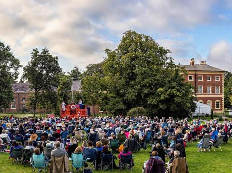 A packed audience at a Lytham Hall performance this year
