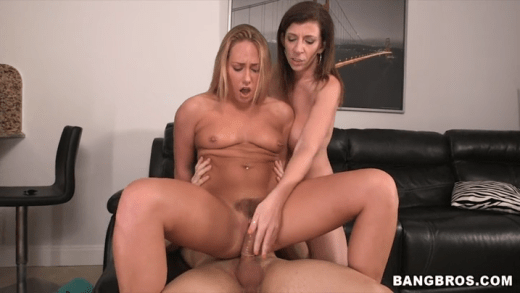STEPMOM  & STEPDAUGHTER THREESOME - Sara Jay You ever fantasize about your girlfriend's step-mom sucking your dick. Especially when she's sexy like Sara Jay.