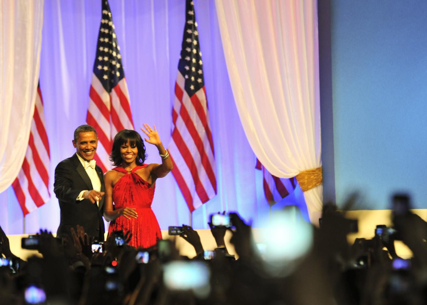Michele Obama at Inauguration Ball 2012