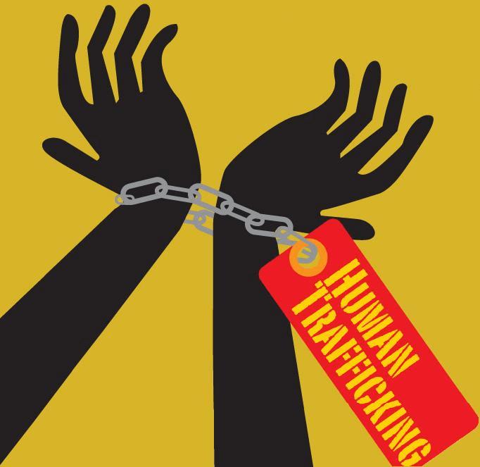 Human Trafficking Hands