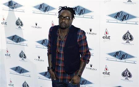 Rapper Wale attends the re-opening of 40/40 Club in New York January 18, 2012. Credit: Reuters/Eduardo Munoz