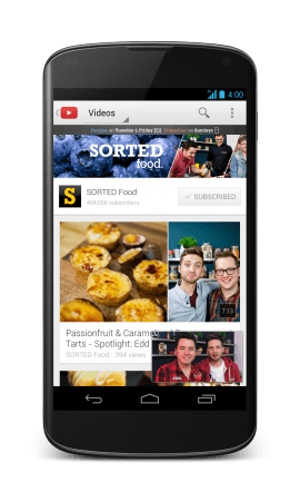 YouTube 5 for Android