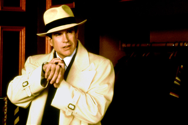 Warren Beatty stars in the 1990 film 'Dick Tracy'. Photograph by Everett Collection