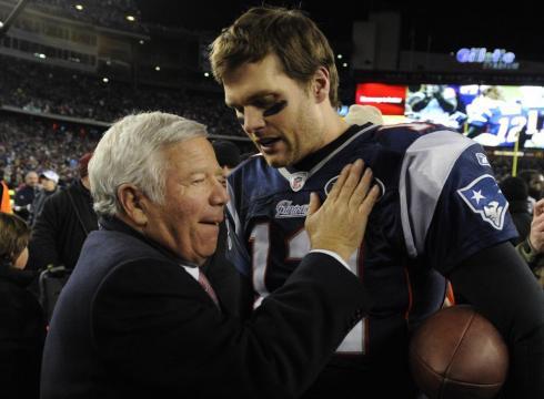 Robert Kraft and Tom Brady