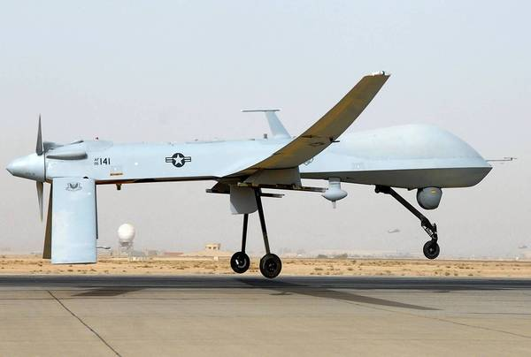"This undated US Air Force photo shows an MQ-1 Predator unmanned aircraft as it prepares for takeoff in support of operations in Southwest Asia. Iranian fighter jets fired on an unarmed US drone in the Gulf last week and missed, the Pentagon said November 8, 2012, warning that the United States stood ready to protect its forces in the region. ""They intercepted the aircraft and fired multiple rounds,"" spokesman George Little told a news conference. The US military plane was ""never in Iranian air space"" and came under fire on November 1 from SU-25 fighters off the Iranian coast over international waters, he said. The MQ-1 Predator, a turboprop plane that flies at a much slower speed than the fighter jets, was pursued further by the Iranian warplanes but not fired on again. The Predator later returned safely to an unspecified military base in the region, Little said. The Predator was intercepted about 16 nautical miles off the Iranian coast, beyond Iran's territorial waters that extend 12 nautical miles off the country's shore, he added. = RESTRICTED TO EDITORIAL USE - MANDATORY CREDIT "" AFP PHOTO / US AIRFORCE/JULIANNE SHOWALTER/"" - NO MARKETING NO ADVERTISING CAMPAIGNS - DISTRIBUTED AS A SERVICE TO CLIENTS = JULIANNE SHOWALTER/AFP/Getty Images ** TCN OUT **"