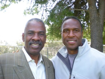 The author with former client Willie Gault, who played 11 years with the Chicago Bears and the Oakland Raiders.