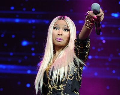 This Nov. 2, 2013 file photo shows hip-hop artist Nicki Minaj at the Power 105.1's Powerhouse Concert at the Barclays Center in New York. (Photo by Brad Barket/ Invision/AP, File)